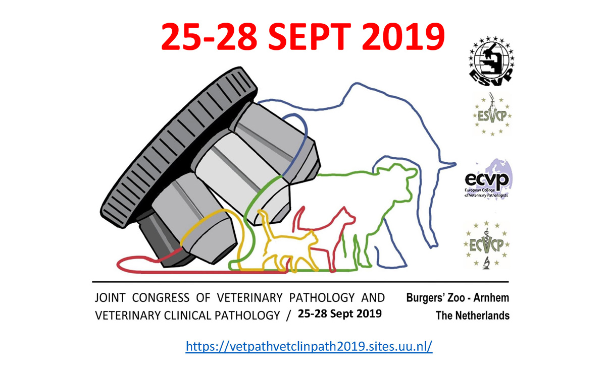 JOINT CONGRESS OF VETERINARY PATHOLOGY AND VETERINARY CLINICAL PATHOLOGY on 25-28 September 2019 at Burgers' Zoo Arnhem, the Netherlands
