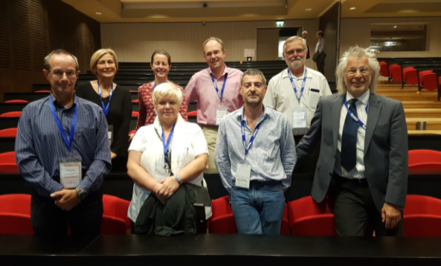 ESVP Board members Lyon 2017. Top row from left Sanja Aleksic Kovacevic Gail Leeming Achim Gruber Carl Hard af Segerstad Bottom row from left Enrico Bollo Polona Juntes Jerome Abadie Wolfgang Baumgartner